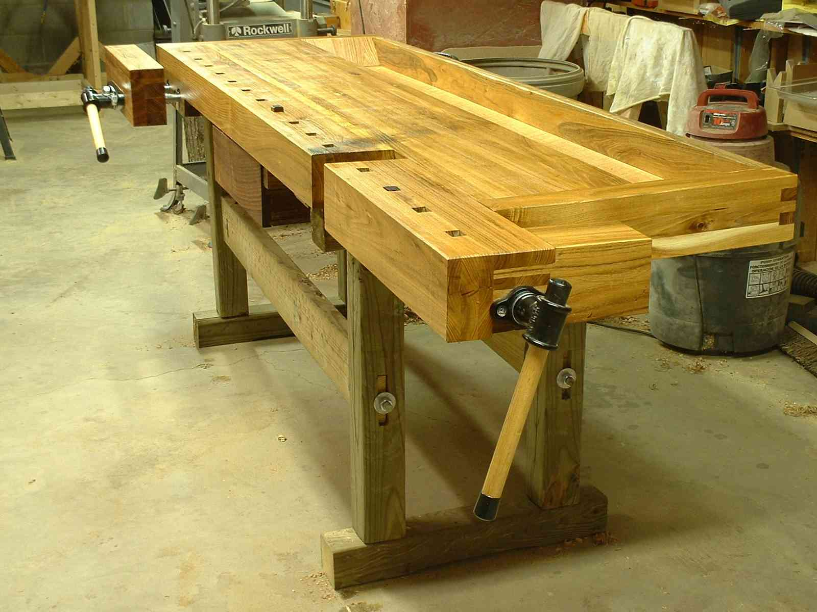 proper workbench is a real time saver, you can make that yourself